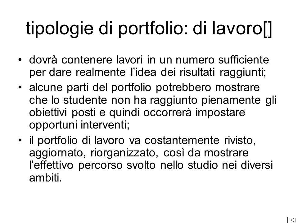 tipologie di portfolio: di lavoro[]
